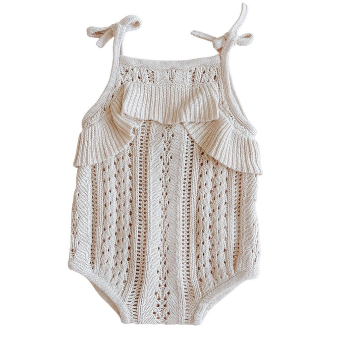 Knit Romper <br> Almond