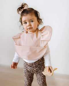 Waterproof Snuggle Bib <br> Nude