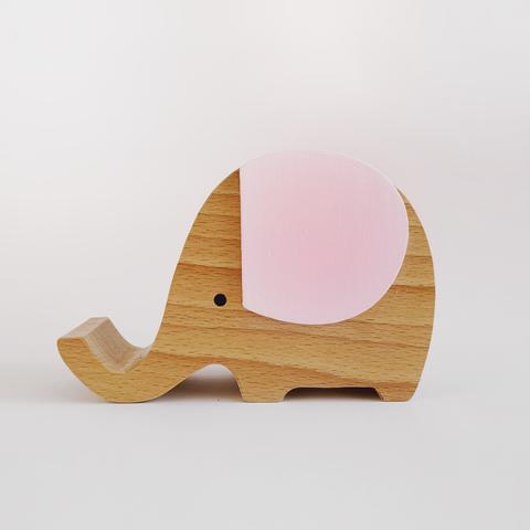 Wooden Musical Elephant <br> Pink