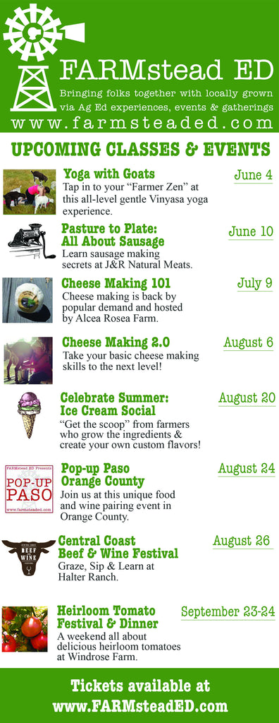 Summer Happenings & Workshops announced...