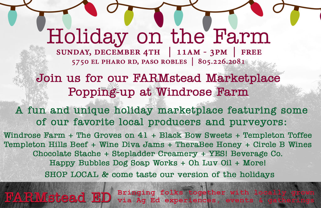 Holiday on the Farm @ Windrose Farm Dec 4th