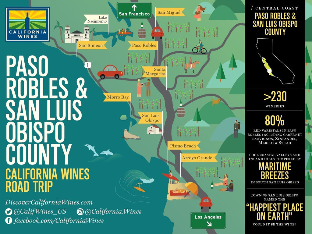 Explore Paso Robles & San Luis Obispo on a California Wines Road Trip