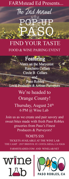 2nd Annual Pop-Up Paso Orange County~  Thursday, August 24