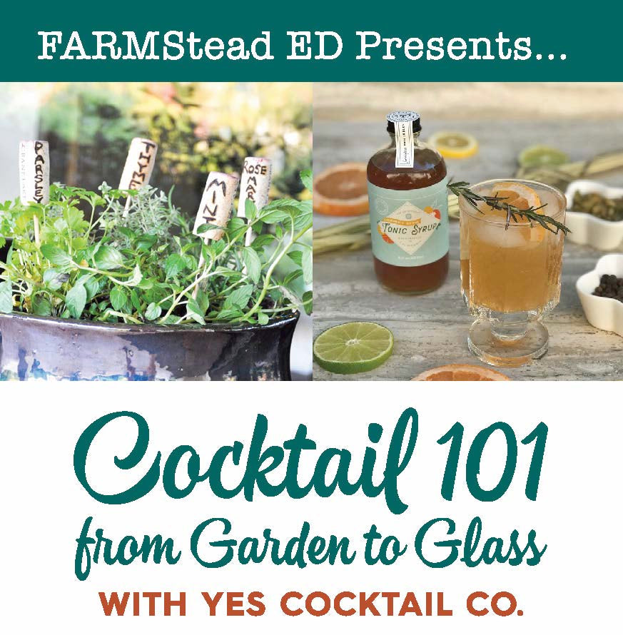 Cocktail 101:  Garden 2 Glass Sunday August 5th 10a - 1p