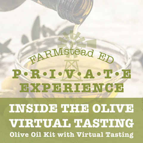 Olive Oil Tasting Kit for Two  and Virtual hang-out with the Olive Farmer