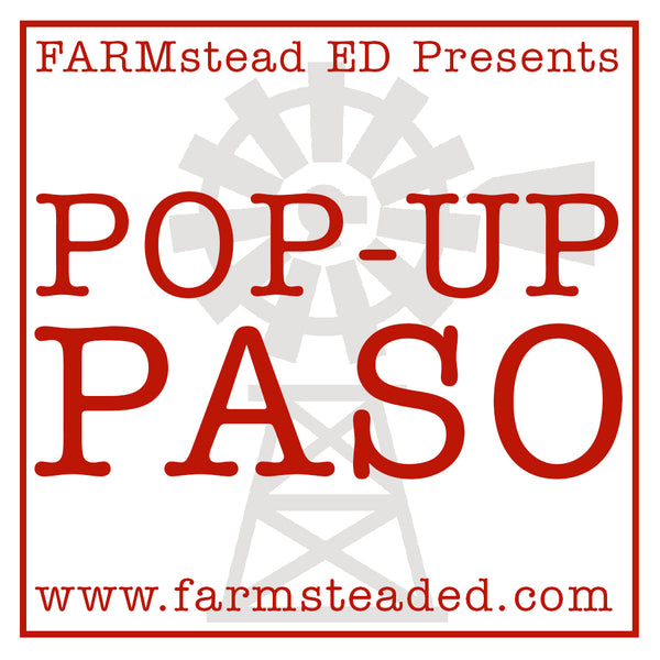 Pop-up Paso  Sunday Marketplace  P.S. Cellars March 18 from 1-4pm