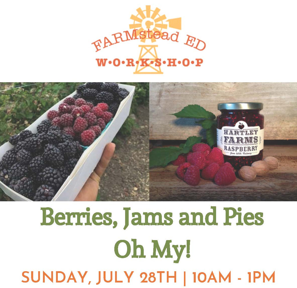Berries, Jams & Pies, OH My!  Sunday July 28th ~ 10a-1p