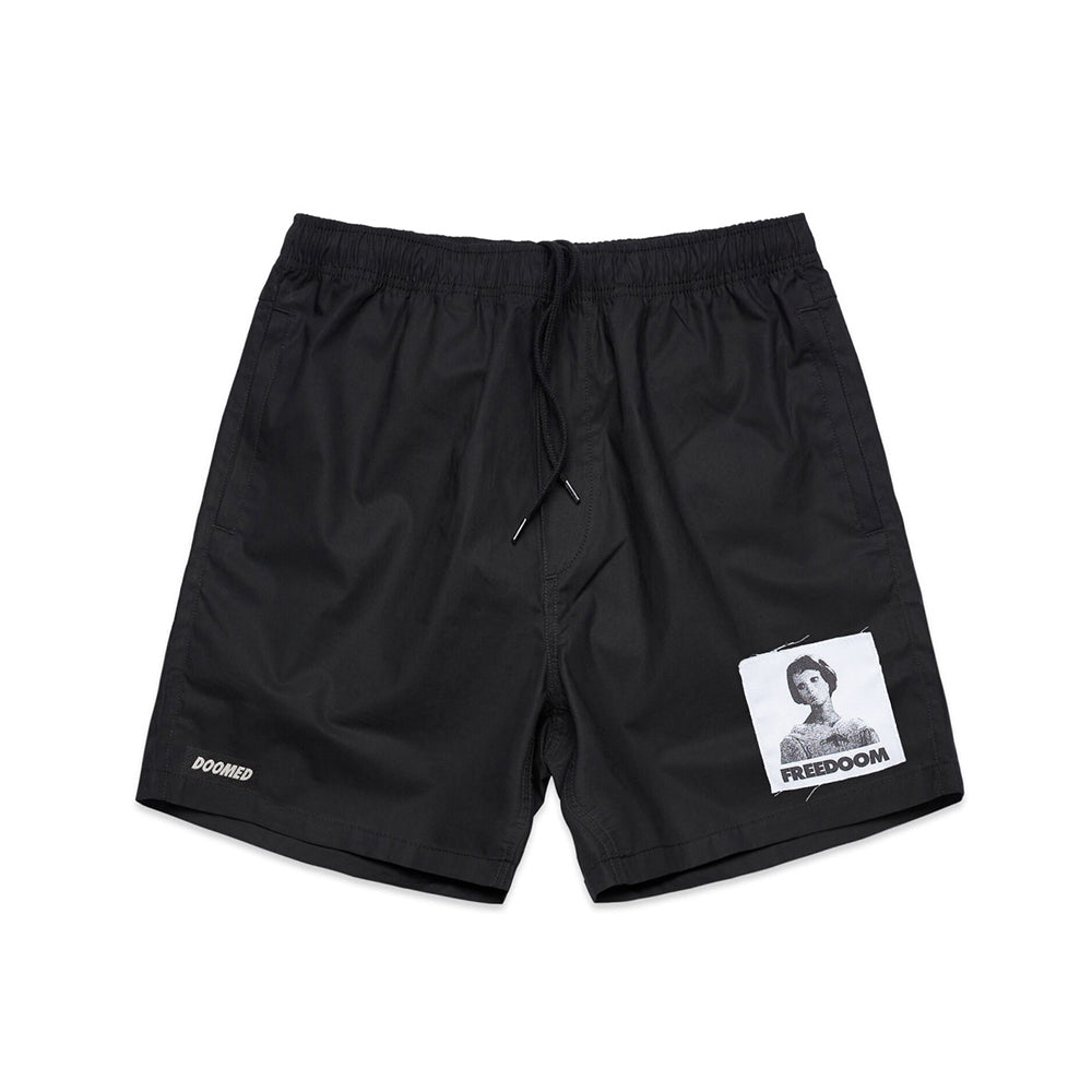 FREEDOOM SHORTS - BLACK