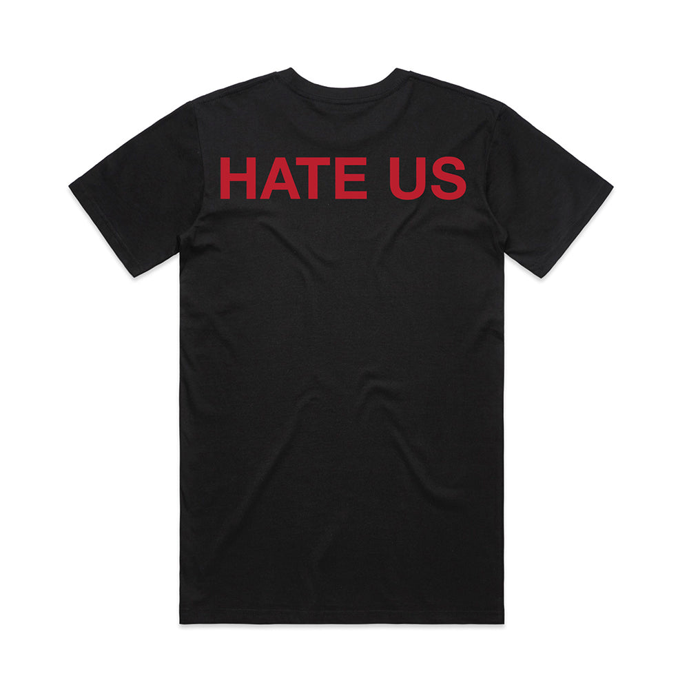 HATE US TEE - BLACK