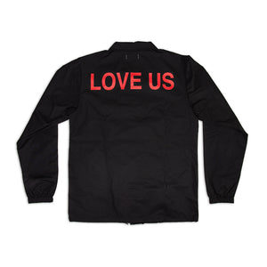 LOVE US COACH JACKET - BLACK