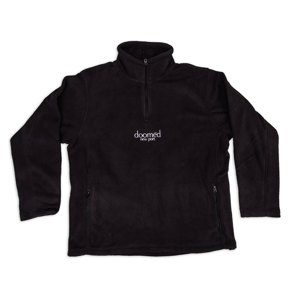 NEW PORT QUARTER FLEECE - BLACK