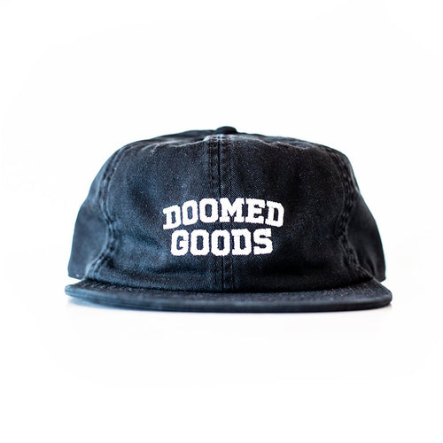 DOOMED GOODS 6 PANEL BLACK