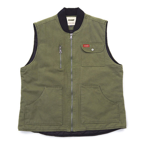 LABOR VEST - GREEN/BROWN