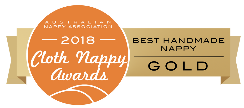 Australian Nappy Association 2018 Cloth Nappy Awards Best Handmade Nappy Gold Award