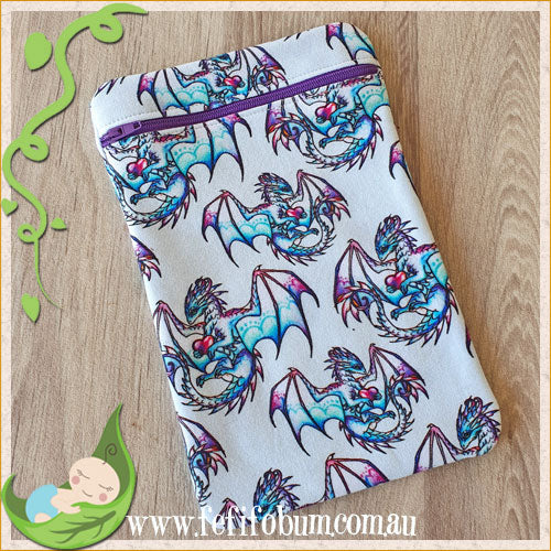 (WB014) Mini PUL lined wetbag 14cm x 22cm cotton knit