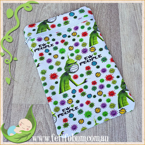 (WB002) Mini PUL lined wetbag 14cm x 22cm cotton knit