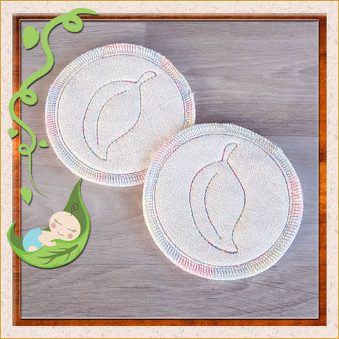 (BP001) Breast Pads - Days - backed with natural bamboo velour