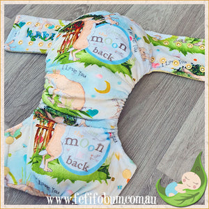 Minky Workhorse Nappy (LARGE) - Guess How Much I Love You