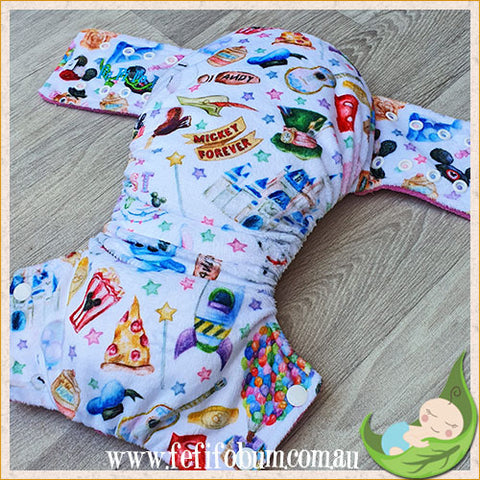 Minky Workhorse Nappy (LARGE) - Best Day Ever