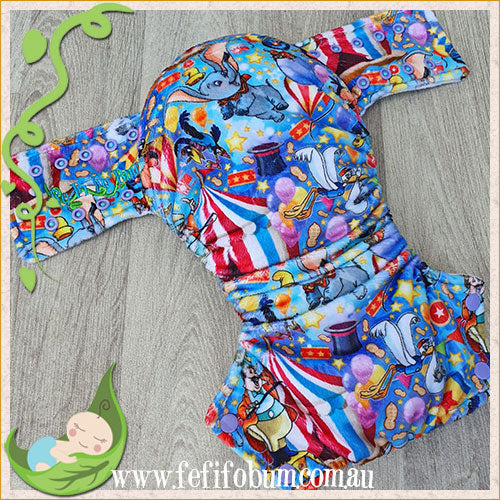 Minky Workhorse Nappy (LARGE) - Flying Elephant