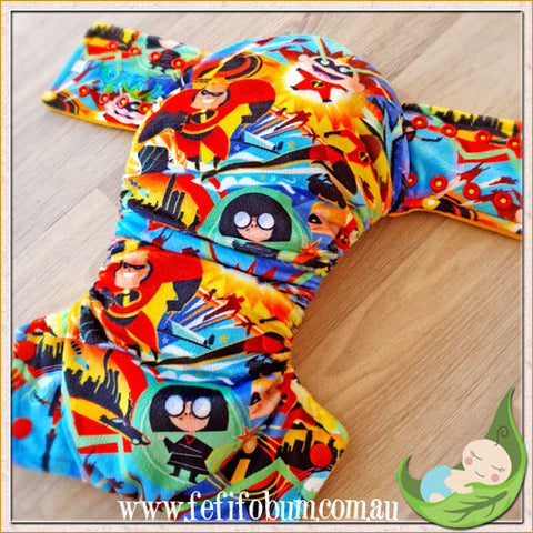 Minky Workhorse Nappy (LARGE) - Incredibles