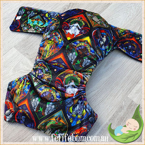 Minky Workhorse Nappy (LARGE) - Stained Glass Wars