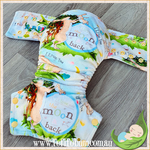 Minky Workhorse Nappy (MEDIUM) - Guess How Much I Love You
