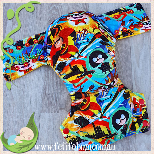 Minky Workhorse Nappy (MEDIUM) - Incredibles