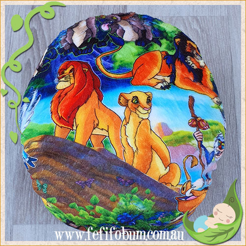 Minky Workhorse Nappy (MEDIUM) - Lion King
