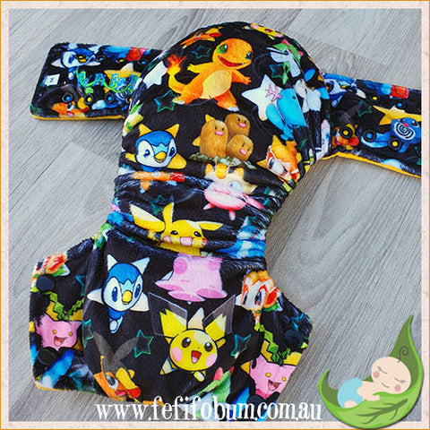 Minky Workhorse Nappy (MEDIUM) - Poke Stars