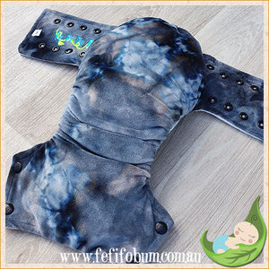 Minky Workhorse Nappy (MEDIUM) - Tempest Fury Fusion Dye