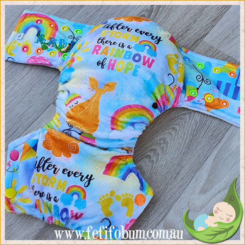 Minky Workhorse Nappy (SMALL) - Rainbow Baby