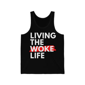 Living The Woke Life Unisex Jersey Tank