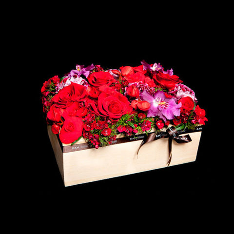 Subtle and Sophisticated Flower box Arrangement