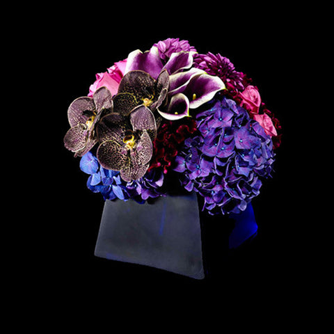 Deep Hues of Purple in a Mixed Arrangment
