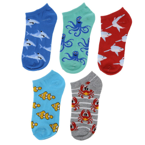 Boys' 5 Pack Low Cut Socks