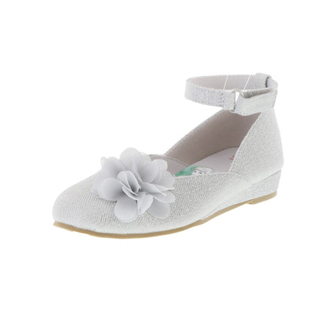 Girls' Toddler Flower Wedge Dress Shoe