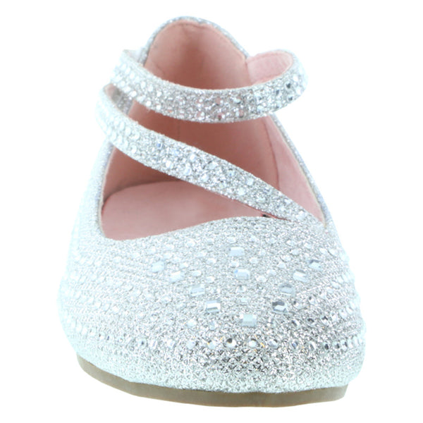 Girls' Toddler Crystal Flat Shoe
