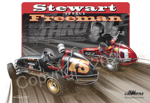 Stewart versus Freeman Racing Rivalries Series Poster