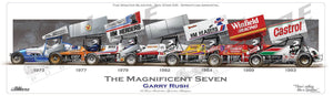 Garry Rush Limited Edition Speedway Poster