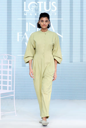 Flared Sleeve Khadi Jumpsuit - Dhi