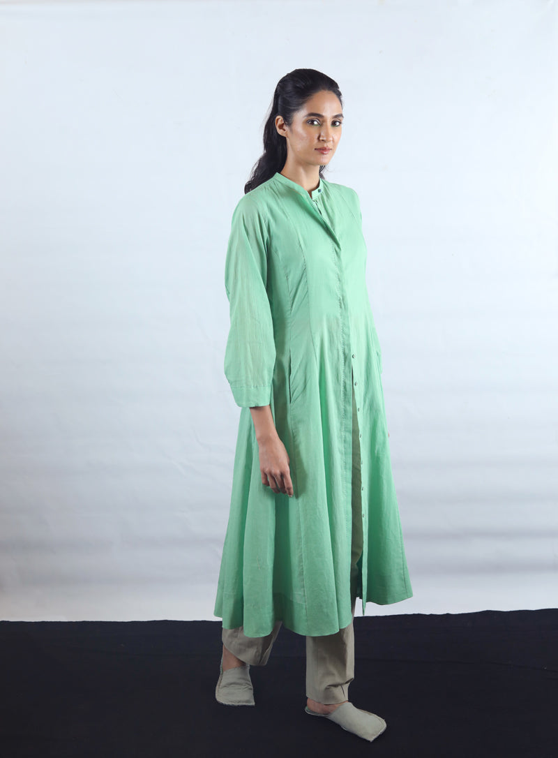 Super Soft Multi Panel Mulmul Kurta Dress - Dhi