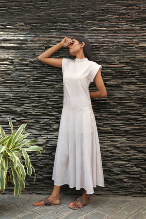 High Neck Shift Dress Pale Pink - Dhi