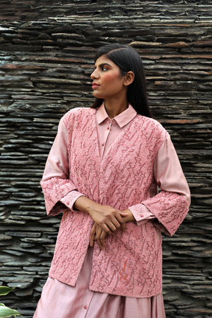 Hand Embroidered Loose Fit Jacket - Dhi