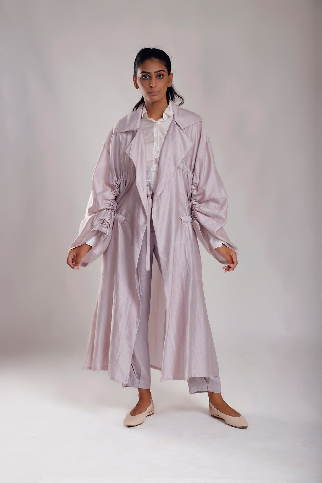 Free Size Trench with Adjustable Strings - Dhi