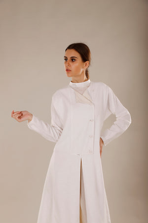 Multi Panel Double Breasted Trench - Dhi