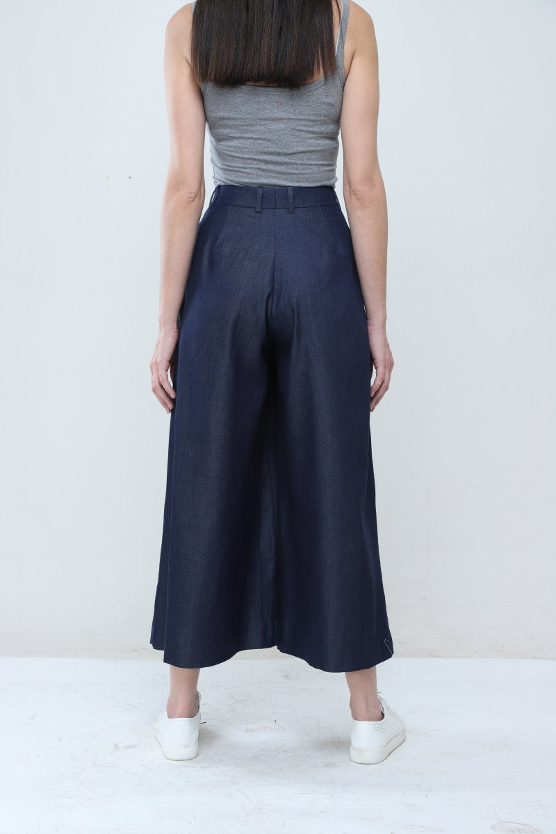 Flared Denim Pants - Dhi