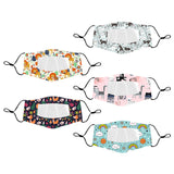 5 PACK Children's Clear Masks (Mixed Pattern)