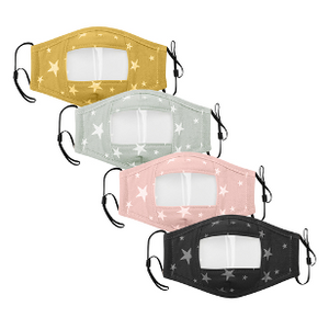4 PACK Children's Clear Masks