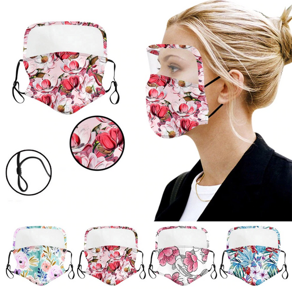 4 PACK of Mixed Floral Hybrid Mask